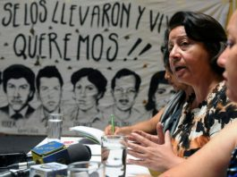 Bertha Caceres, former coordinator of the Committee of Relatives of Detained and Disappeared in Honduras.