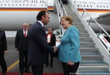 Angela Merkel arrives in Mexico.