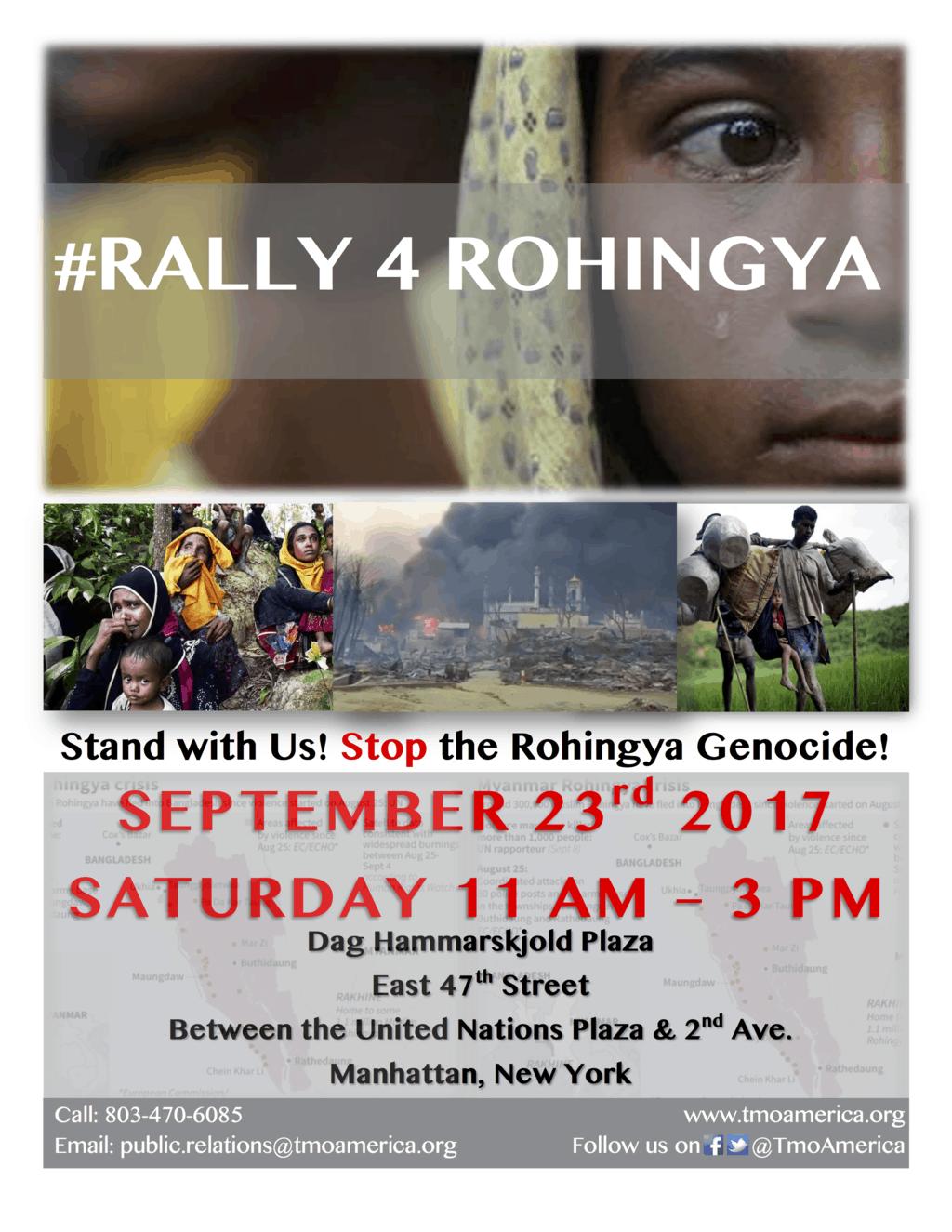 #rally4rohingya