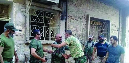 Syrian troops of the Brigade 137 base, surrounded by ISIS since 2014, were reunited with advancing army soldiers after they successfully lifted the lengthy siege of Deir Ezzor Tuesday. Image source: Al-Masdar News