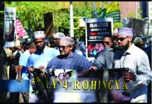 The Muslims of America, along with Burmese Muslims, R ally and March to bring attention to the atrocities happening daily against the Rohingya Muslims.