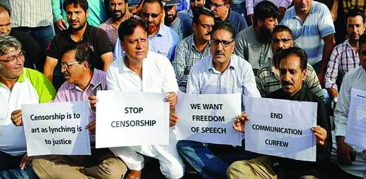 Blocking access to social media is an infringement on basic human rights say Kashmiri protesters.